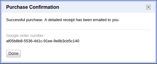 Screenshot of reauthenticating Google credentials